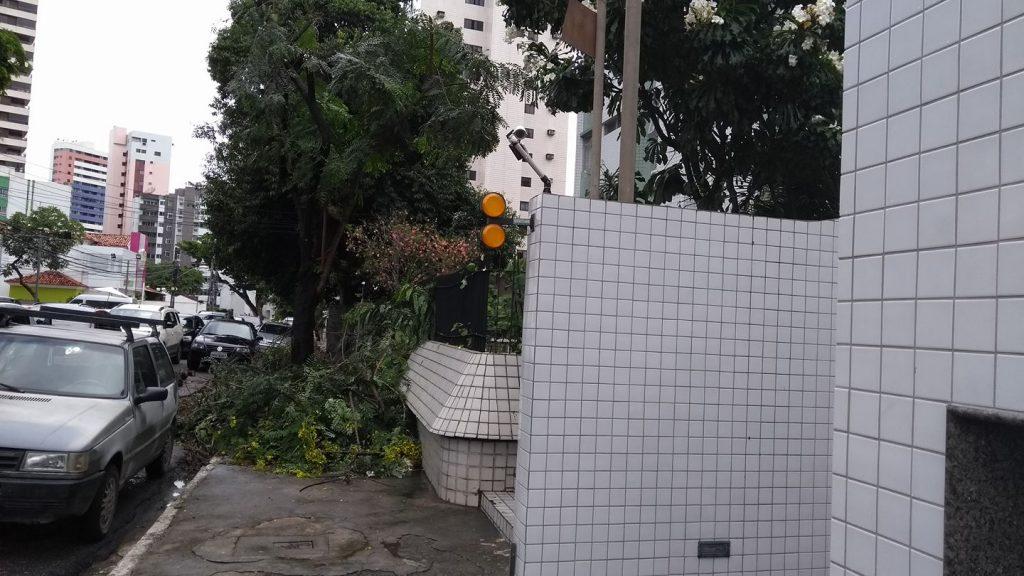 Habituado a andar no Parque da Jaqueira, Zelito Nunes reclama do lixo nas calçadas de acesso, na Rua do Futuro.